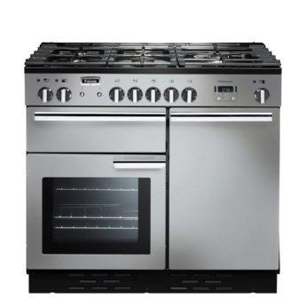 Falcon Range Cooker, Professional Plus 100, Gas-kochfeld, stainless steel, stahl, grau, Standherd, Landhausherd