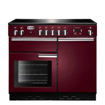 Falcon Range Cooker, Professional Plus 100, Induktions-kochfeld, cranberry, rot, Standherd, Landhausherd