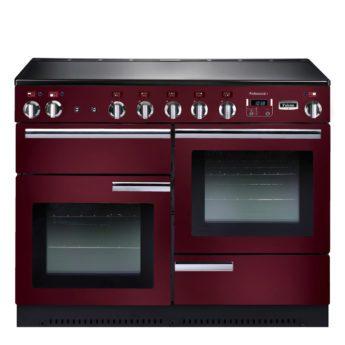 Falcon Range Cooker, Professional Plus 110, Induktions-kochfeld, cranberry, rot, Standherd, Landhausherd