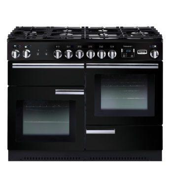 Falcon Range Cooker, Professional Plus 110, Gas-kochfeld, black, schwarz, Standherd, Landhausherd