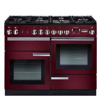 Falcon Range Cooker, Professional Plus 110, Gas-kochfeld, cranberry, rot, Standherd, Landhausherd