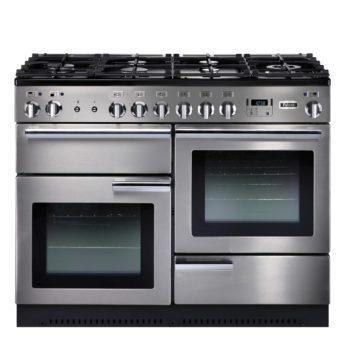 Falcon Range Cooker, Professional Plus 110, Gas-kochfeld, stainless steel, stahl, grau, Standherd, Landhausherd
