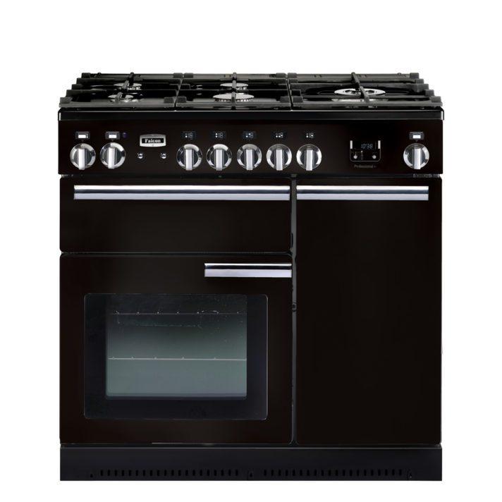 Falcon Range Cooker, Professional Plus 90, Gas-kochfeld, black, schwarz, Standherd, Landhausherd