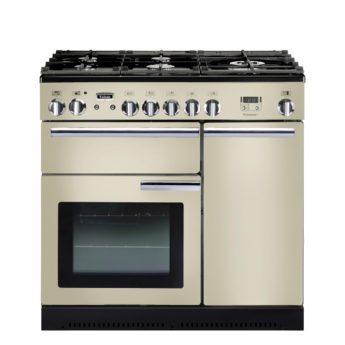Falcon Range Cooker, Professional Plus 90, Gas-kochfeld, cream, creme, Standherd, Landhausherd