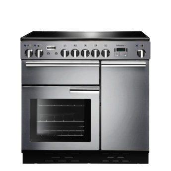 Falcon Range Cooker, Professional Plus 90, Induktions-kochfeld, stainless steel, stahl, grau, Standherd, Landhausherd